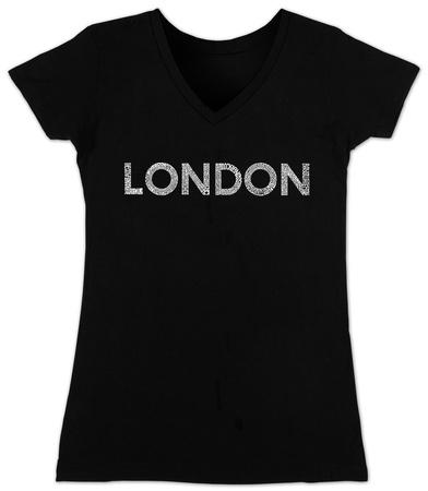 Juniors: V-Neck- London Neighborhoods Shirt