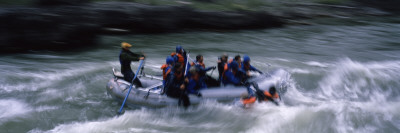 Tourists Rafting in The River, Snake River, Wyoming Wall Decal by  Panoramic Images