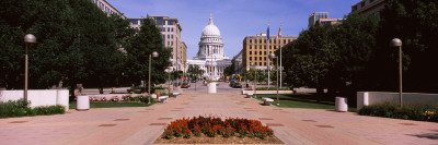 Footpath Leading Toward Wisconsin State Capitol, Madison, Wisconsin Wall Decal by  Panoramic Images