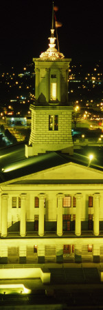 Government Building Lit Up At Night, State Capitol Building, Nashville, Tennessee Wall Decal