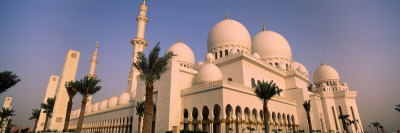 Low Angle View of a Mosque, Sheikh Zayed Mosque, Abu Dhabi, United Arab Emirates Wall Decal
