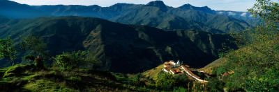 High Angle View of a Village, San Rafael De Mucuchies, Merida State, Andes, Venezuela Wall Decal by  Panoramic Images
