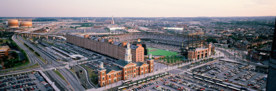 Aerial View of a Baseball Field, Baltimore, Maryland Wall Decal by  Panoramic Images