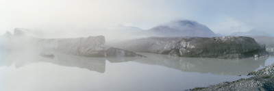 Fog Over a Lake, Bear Glacier Lake, Kenai Fjords National Park, Alaska Autocollant mural