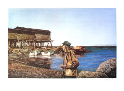 Restless, Newfoundland Fisherman Limited Edition by Dwight Baird
