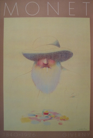 Homage a Monet Collectable Print by Milton Glaser