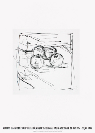 Four Framed Apples Posters by Alberto Giacometti