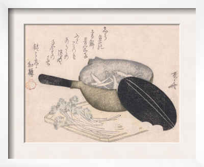 Still Life of Cut Vegetables and a Pot Containing Icefish Posters by Ryuryukyo Shinsai