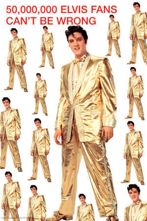 Elvis Presley-Gold Suit Poster