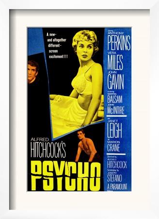 Psycho, Anthony Perkins, Janet Leigh, John Gavin, 1960 Print
