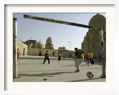 Children Play Soccer Framed Photographic Print