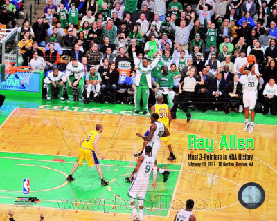 Ray Allen Most 3 pointers in NBA History with Overlay Photo