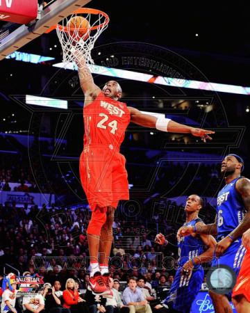 2011 NBA All-star Game - Kobe Bryant dunking highlight against East team in red uniform sports basketball photo poster