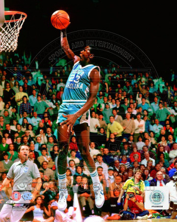 Michael Jordan University of North Carolina Tar Heels 1981 Action Photo