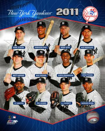New York Yankees 2011 Team Composite Fotografía