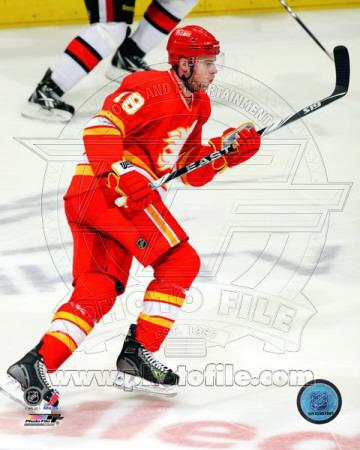 Matt Stajan 2010-11 Action Photo