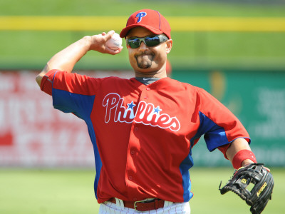 Florida Seminoles v Philadelphia Phillies, CLEARWATER, FL - FEBRUARY 24: Placido Polanco Photographic Print