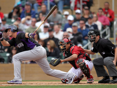 Colorado Rockies v Arizona Diamondbacks, SCOTTSDALE, AZ - FEBRUARY 26: Troy Tulowitzki Photographic Print