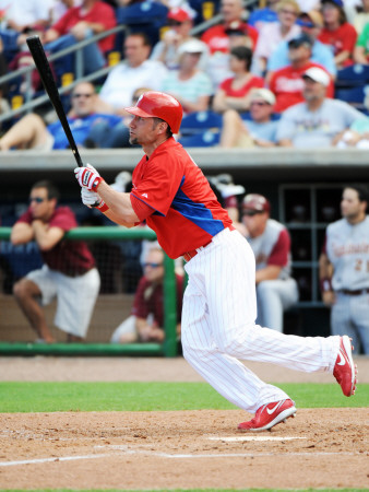 Florida Seminoles v Philadelphia Phillies, CLEARWATER, FL - FEBRUARY 24: Ross Gload Photographic Print