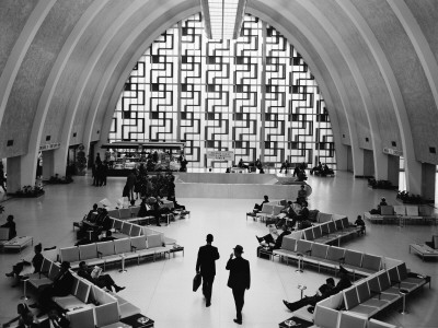 Interior of Main Lobby of Moisant International Airport, New Orleans, Louisiana Photographic Print by H. Armstrong Roberts