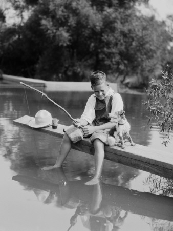 Young Boy Fishing Photographic Print by H. Armstrong Roberts