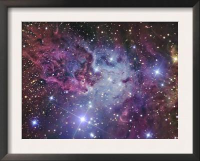 Fox Fur Nebula Poster by  Stocktrek Images