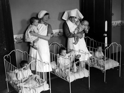 Two Nurses Photographic Print