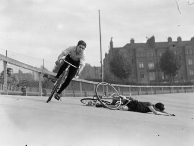 Bike Accident Lámina fotográfica