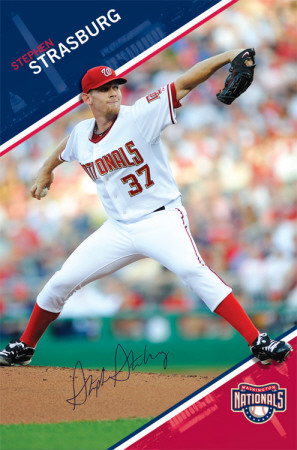 Nationals - S Strasburg 10 Poster