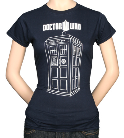 Juniors: Dr. Who - Tardis Vector Graphic T-Shirt