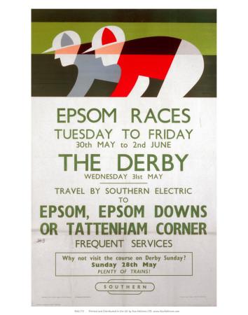 Epsom Races, BR, c.1961 Prints