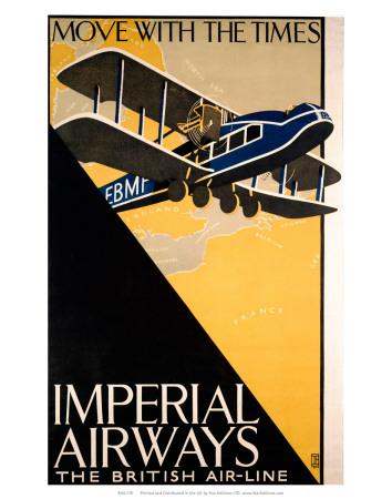 Imperial Airways travel, c.1926 Prints