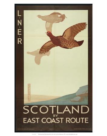 Scotland by East Coast Route., London & North Eastern Railway Art