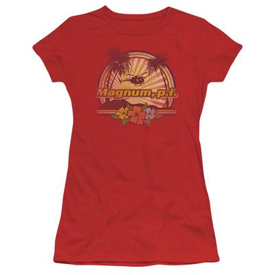 Juniors: Magnum PI-Hawaiian Sunset Shirt