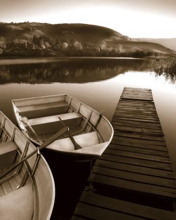 Row Boat Awaits Art by Danita Delimont