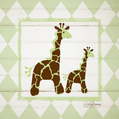 Giraffes Posters by Sylvia Murray
