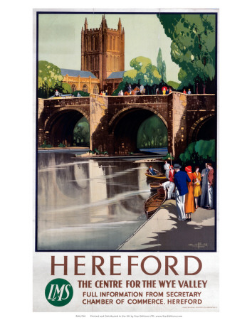 Hereford, The Centre of the Wye Valley, LMS, c.1923-1947 Prints