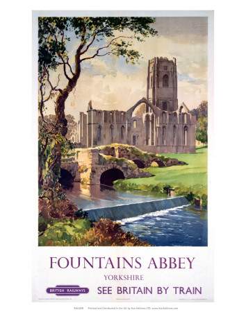 Fountains Abbey, Yorkshire, BR (NER), c.1956 Prints