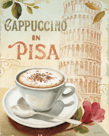 Cafe in Europe IV Art Print