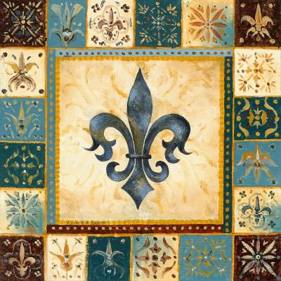 Bleu Fleur de Lis I Posters by Richard Henson