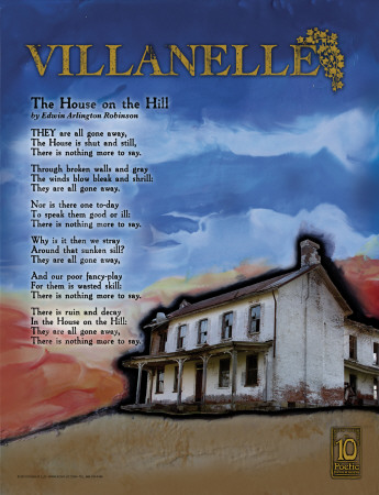 Villanelle Poetry Form Posters by Jeanne Stevenson