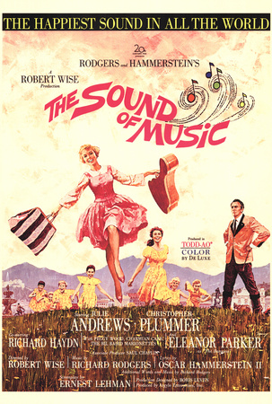 The Sound of Music Julie Andrews vintage music poster