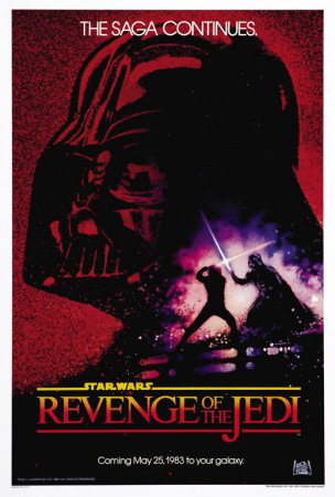 Star Wars Episode 6 Return of the Jedi Luke Skywalker Darth Vader movie poster