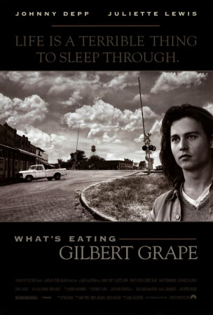 """What's Eating Gilbert Grape"" movie poster artwork image with Leonardo DiCaprio"