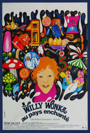 Willy Wonka and the Chocolate Factory - French Style Print