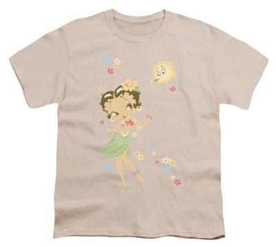 Youth: Betty Boop-Hula Flowers T-shirts