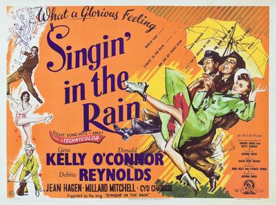 Zpívání v dešti / Singin' in the Rain, 1952 (filmový plakát vangličtině) Plakát