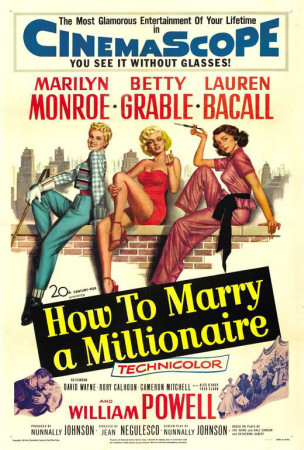 How to Marry A Millionaire vintage movie poster 1953 Marilyn Monroe