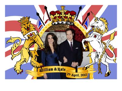 Prince William and Kate Middleton, The Royal Wedding April 29th, 2011 Print
