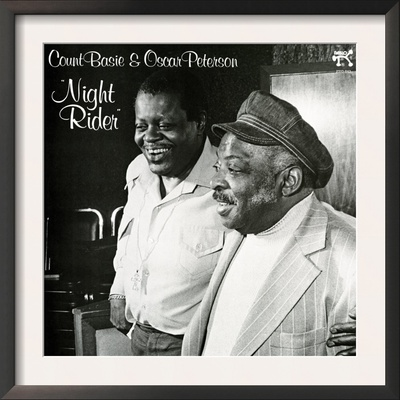 Count Basie and Oscar Peterson - Night Rider Print